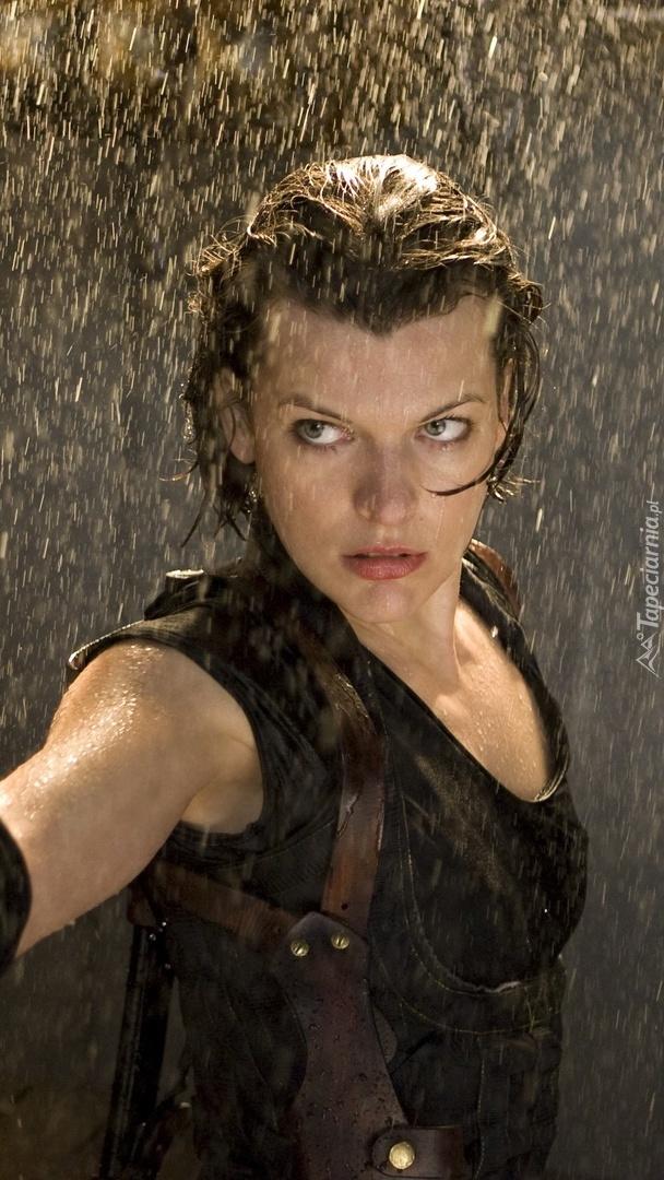 Jill Valentine w deszczu