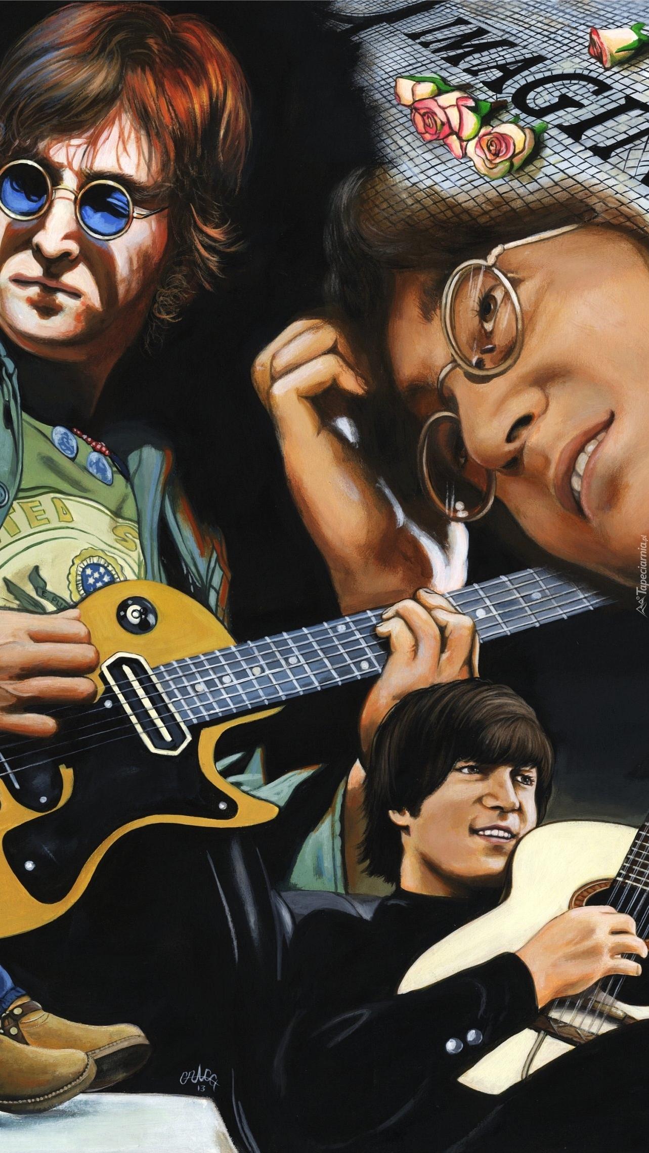 John Lennon z gitarą