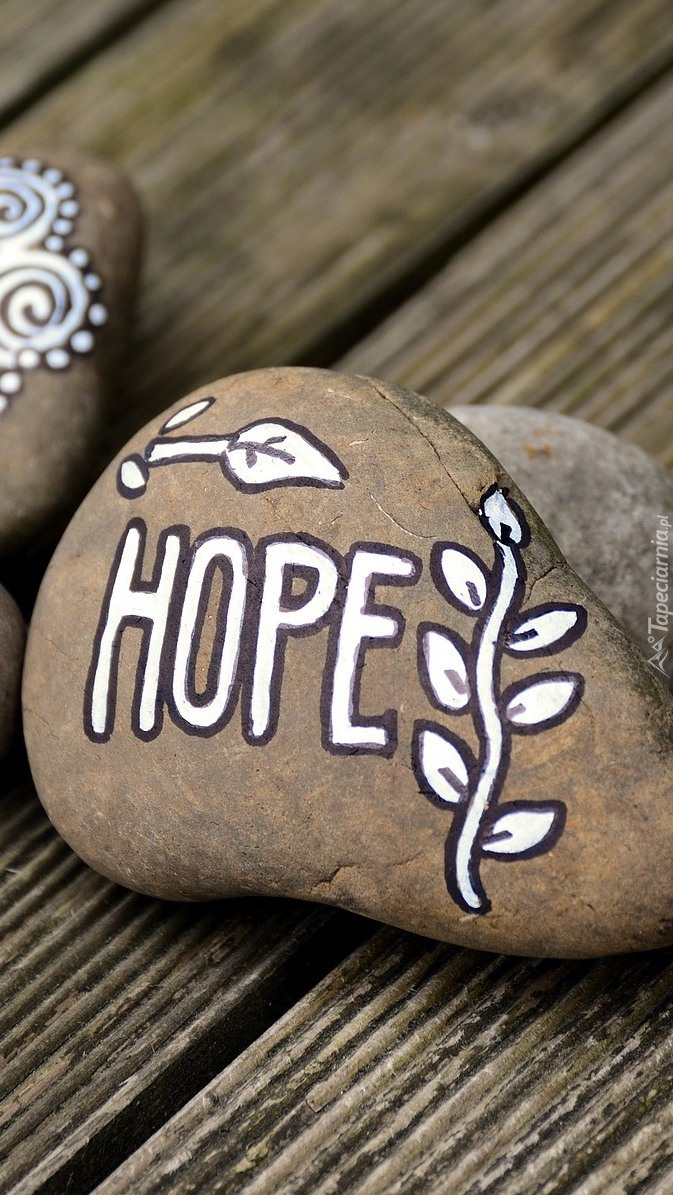 Kamień z napisem Hope