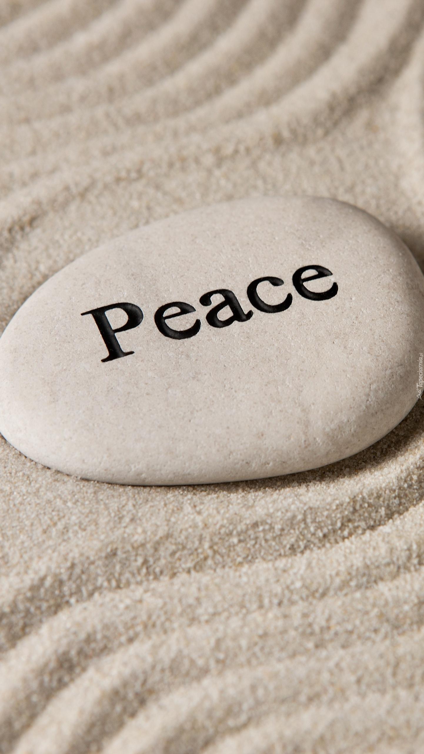 Kamień z napisem Peace
