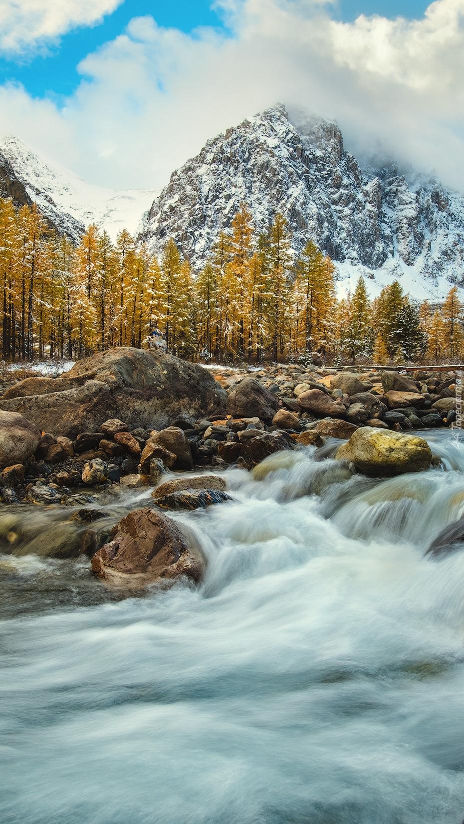 Kamienie w rwącej rzece