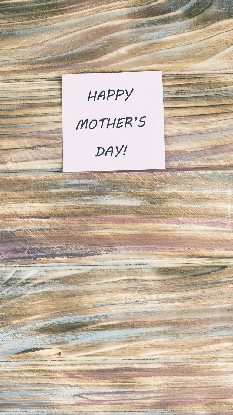 Karteczka z życzeniami dla mamy