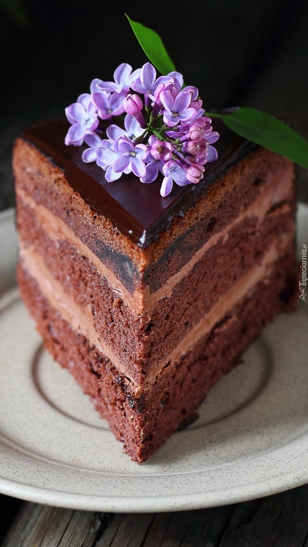 Kawałek tortu czekoladowego