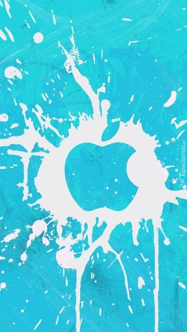 Kleks z logo Apple