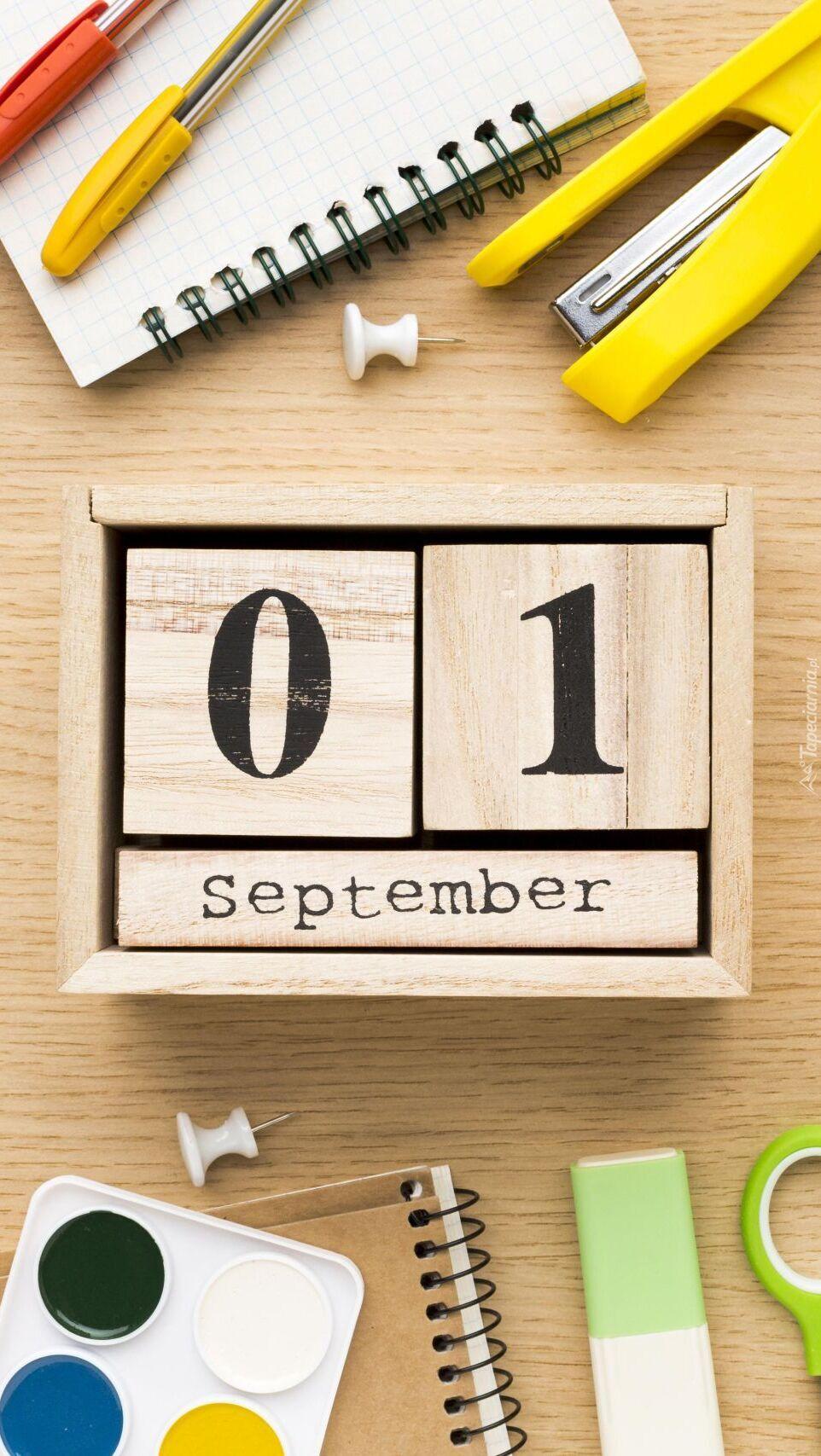 Klocek z datą 1 września