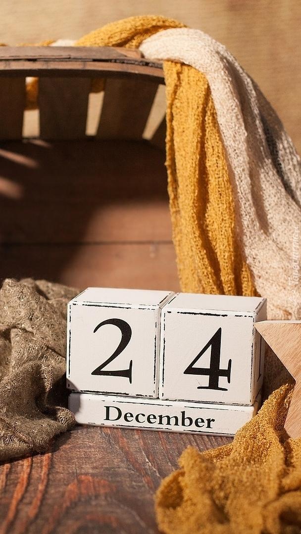 Klocki z datą 24 grudnia