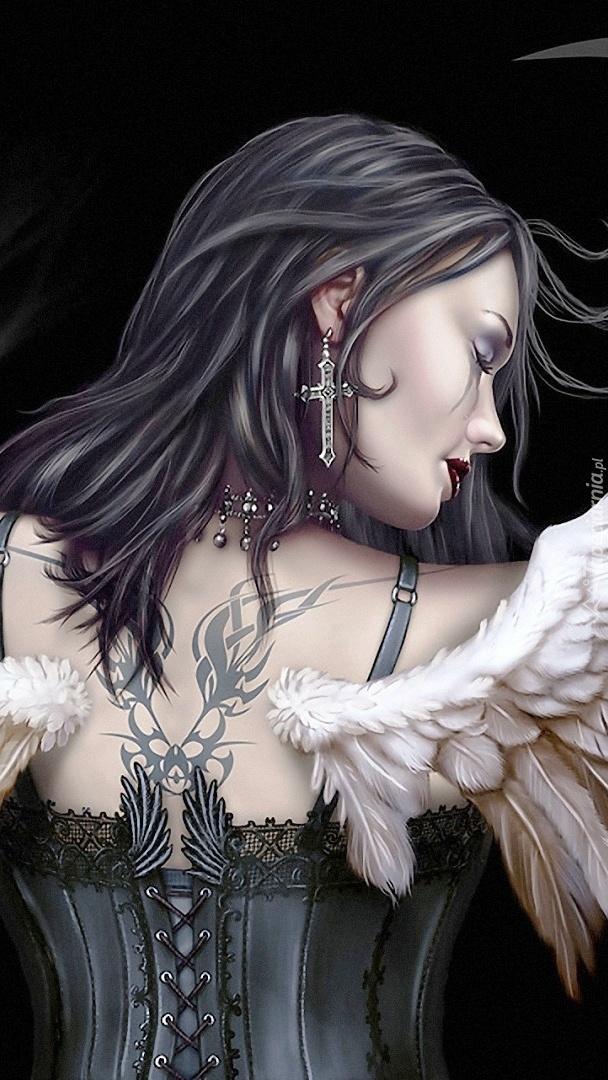 Kobieta anioł