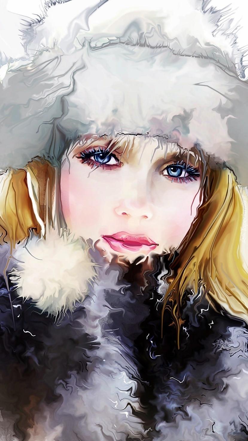 Kobieta w futrzanej czapie