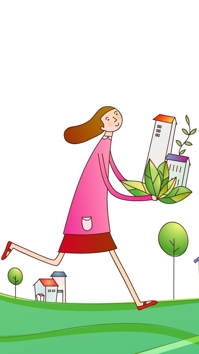 Kobieta z domkiem w dłoniach na rysunku fantasy
