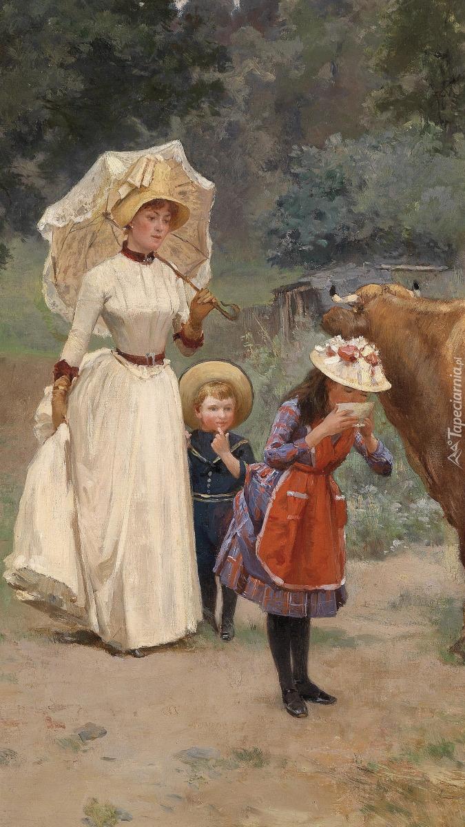 Kobieta z dziećmi
