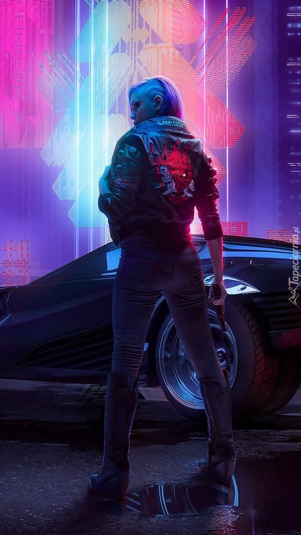 Kobieta z gry Cyberpunk 2077