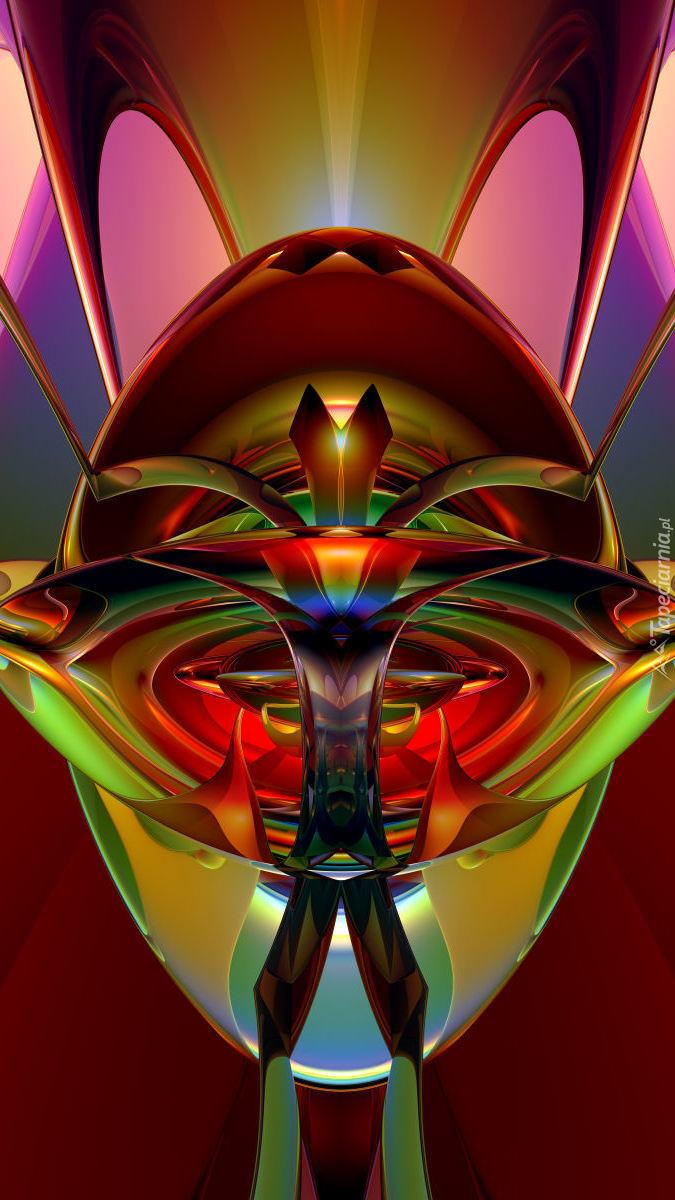 Kolorowa abstrakcja w 3D