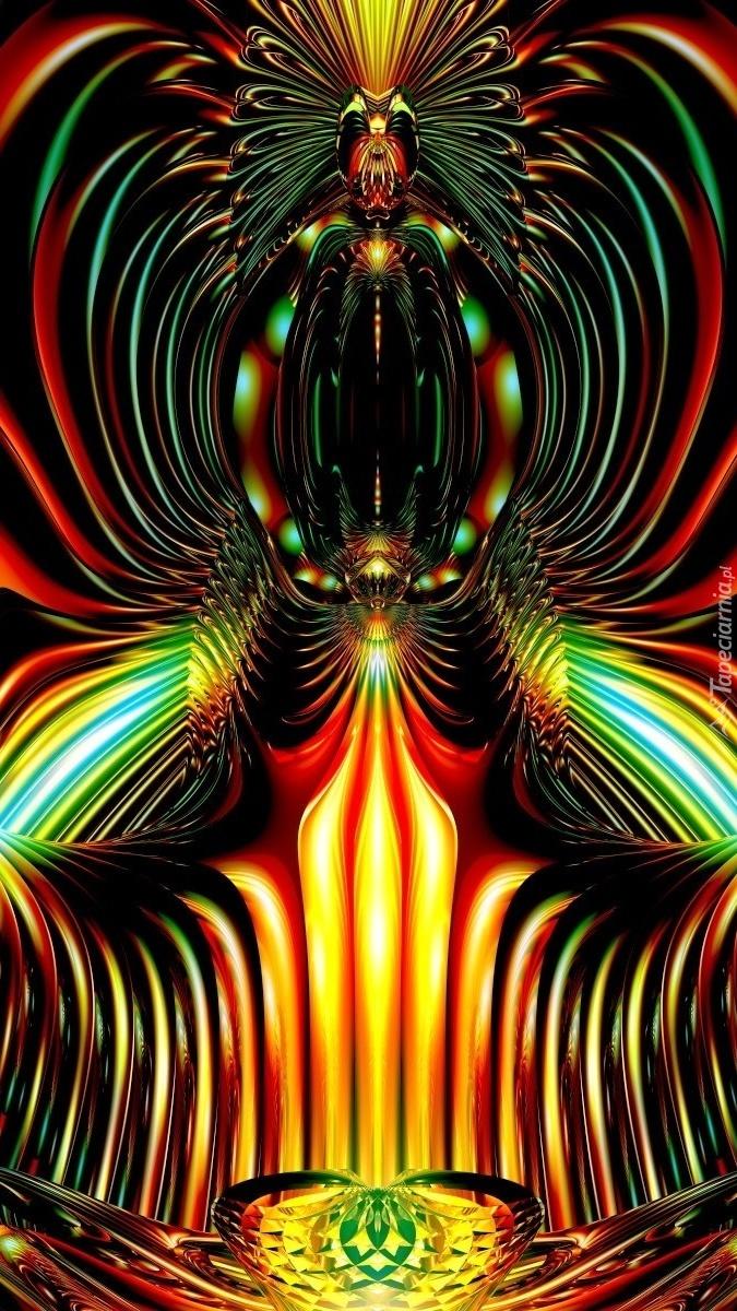 Kolorowa fontanna w grafice