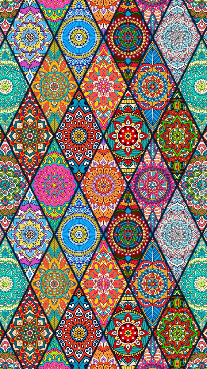 Kolorowa tekstura w romby