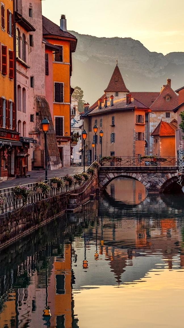 Kolorowe domy nad kanałem