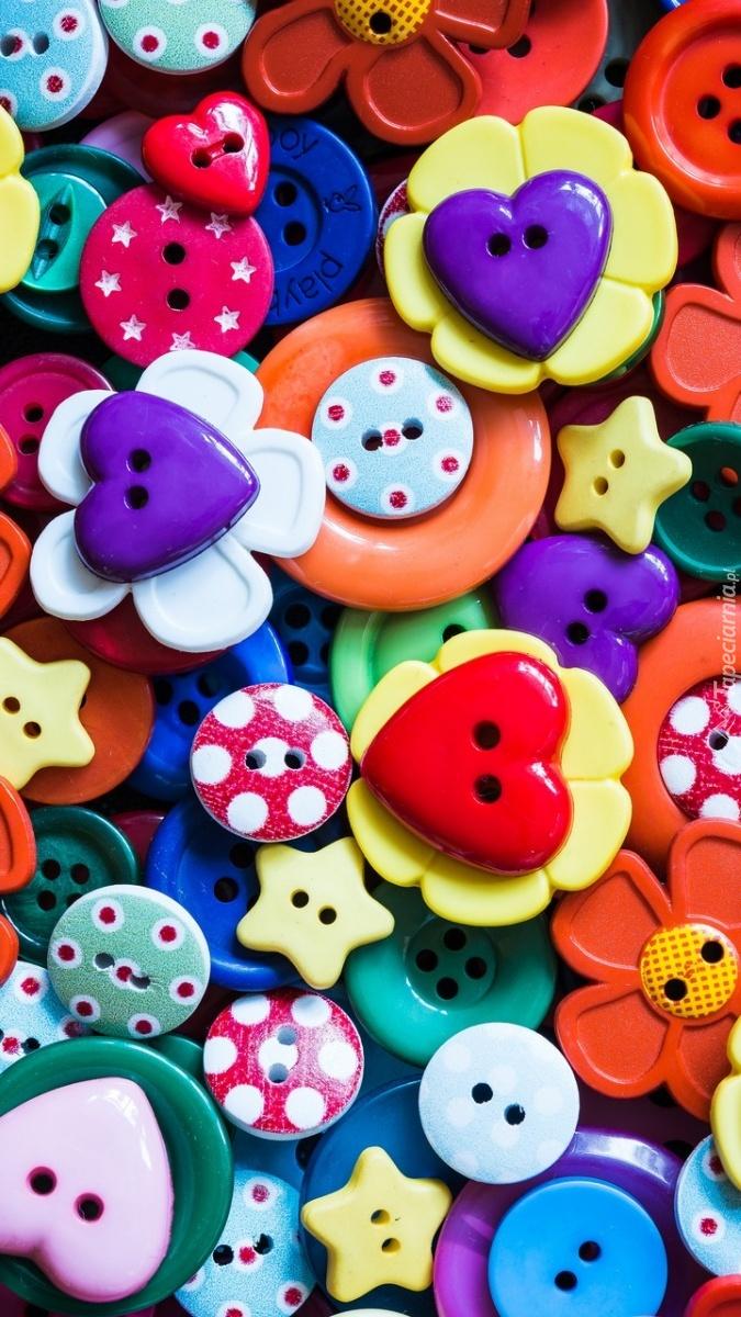 Kolorowe guziczki