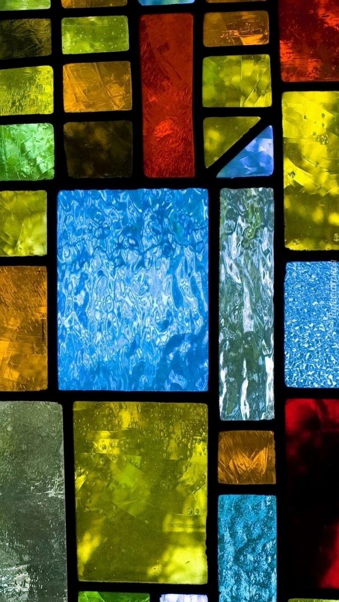 Kolorowe szkło witrażowe
