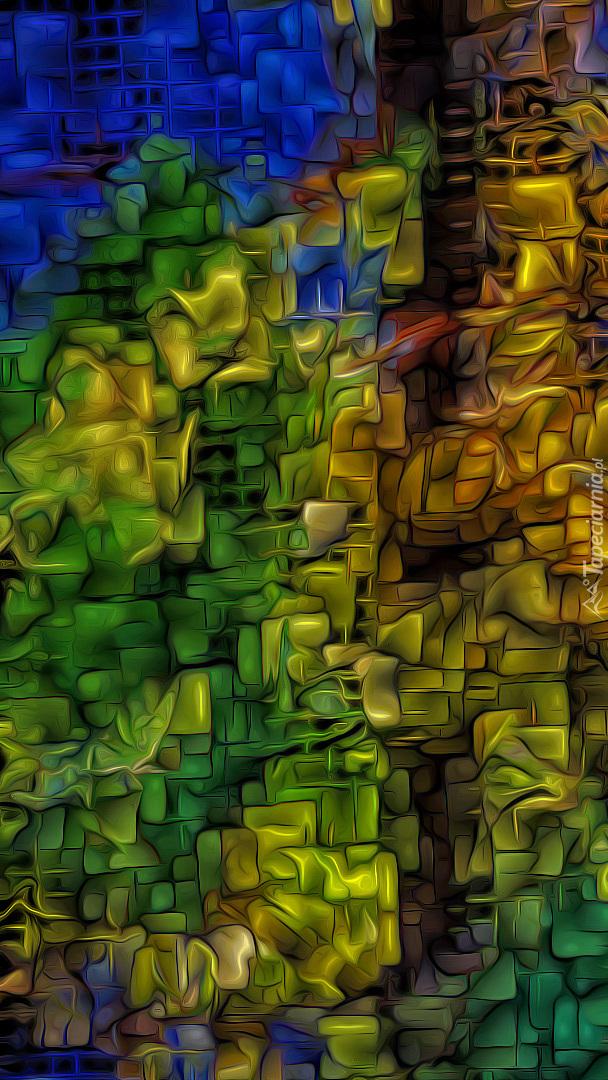 Kolorowe wzory na teksturze