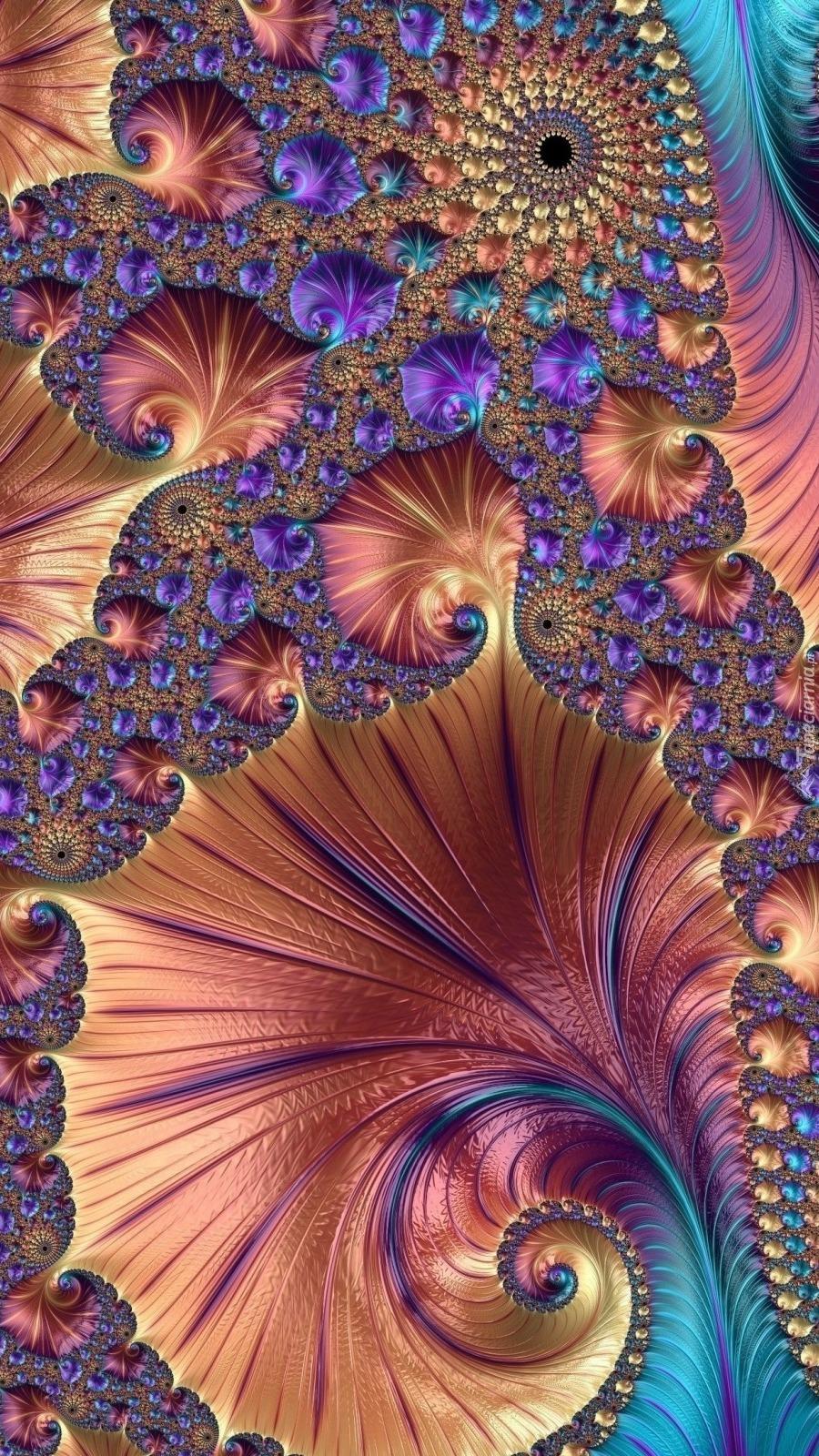 Kolorowe wzory w grafice fraktal