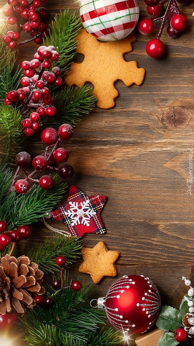 Kompozycja świąteczna z piernikami