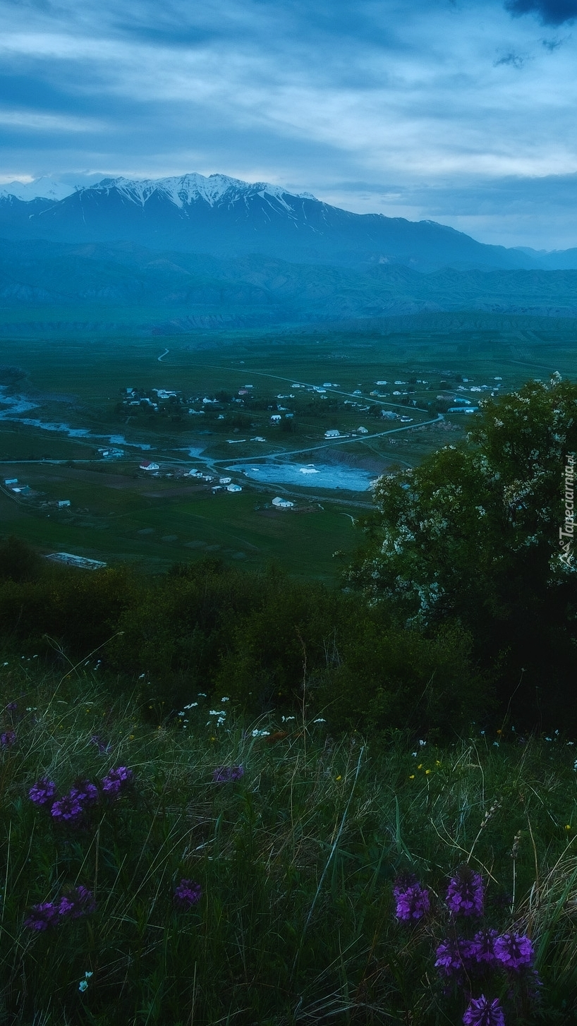 Krajobraz Kirgistanu