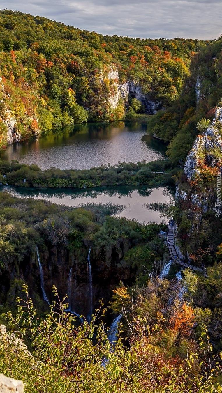 Krajobraz Parku Narodowego Jezior Plitwickich