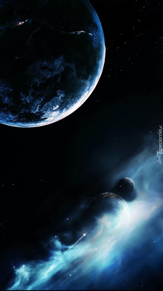 Krążą Planety W Kosmosie Tapeta Na Telefon