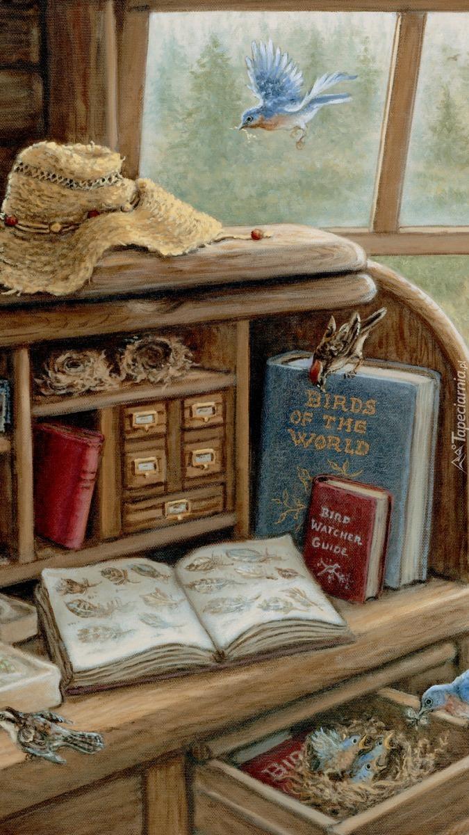 Książki na biurku