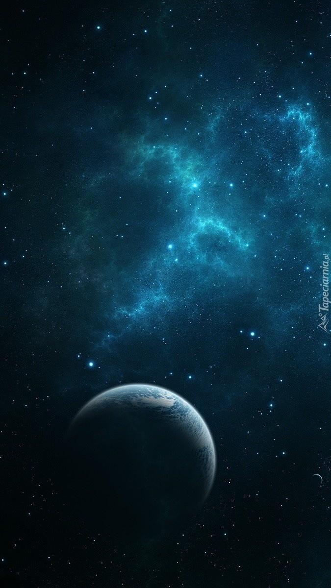 Księźyc w towarzystwie gwiazd