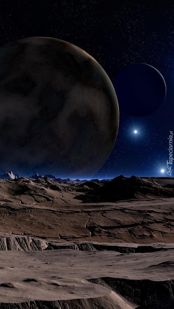 Księżycowy krajobraz w 3D