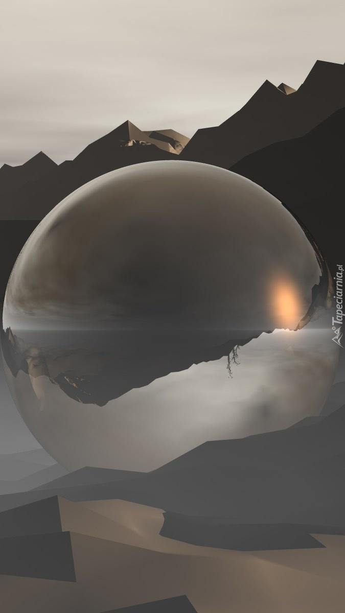 Kula w górach w 3D