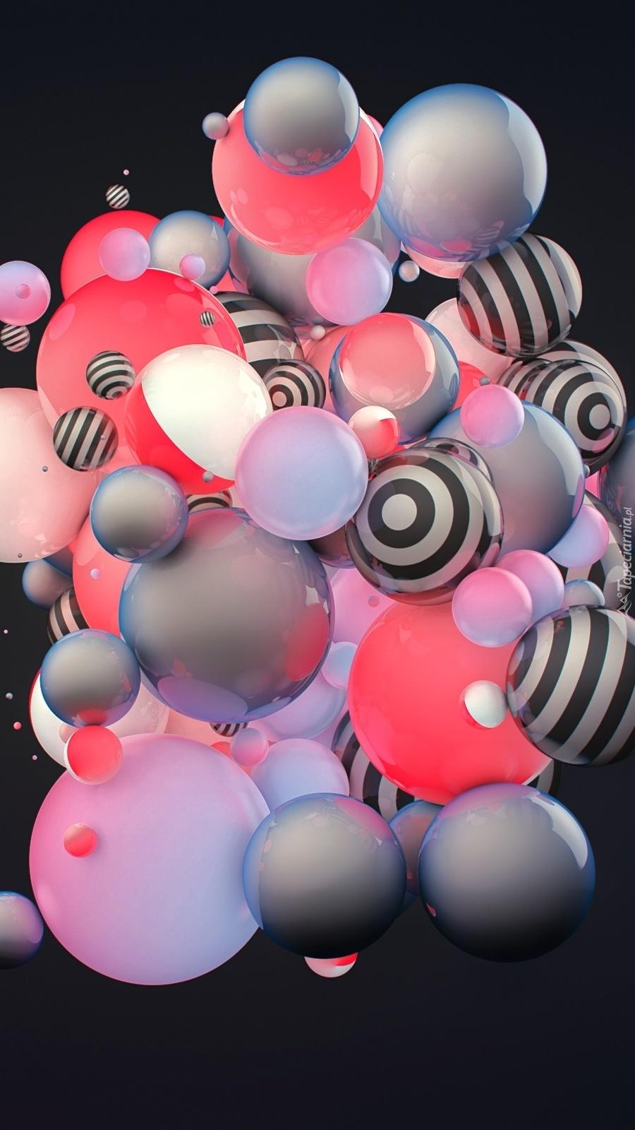 Kulki w różnych kolorach