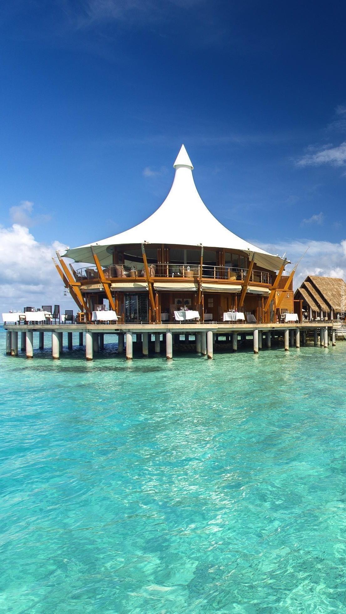 Kurort nad Oceanem na Malediwach