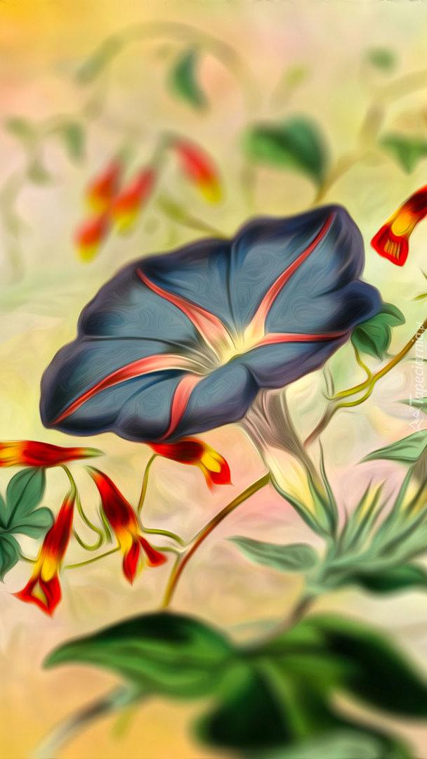 Kwiat i pąki w grafice