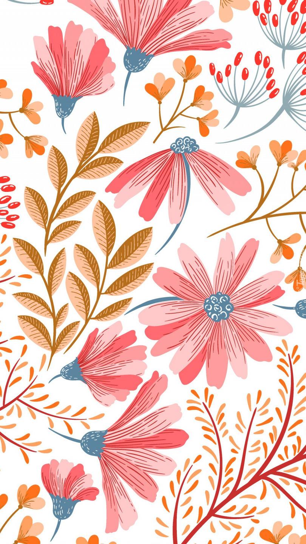Kwiatki różowe na teksturze