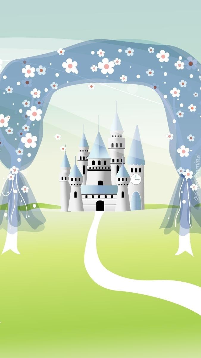 Kwiatowa brama do zamku z bajki