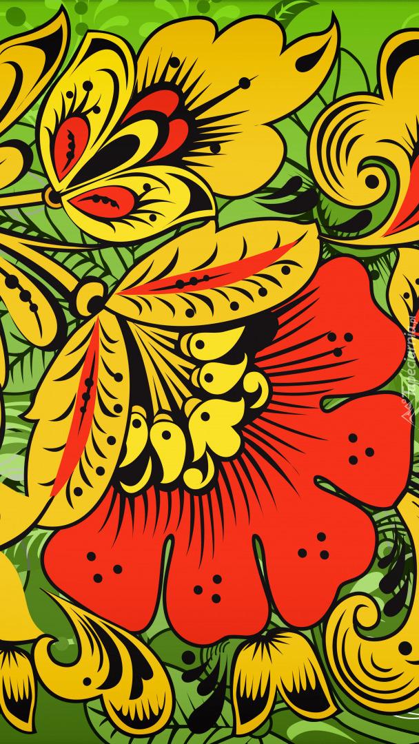 Kwiatowa tekstura
