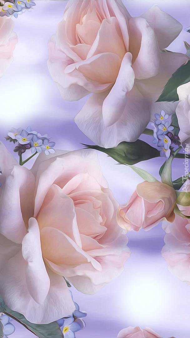 Kwiaty róży w grafice
