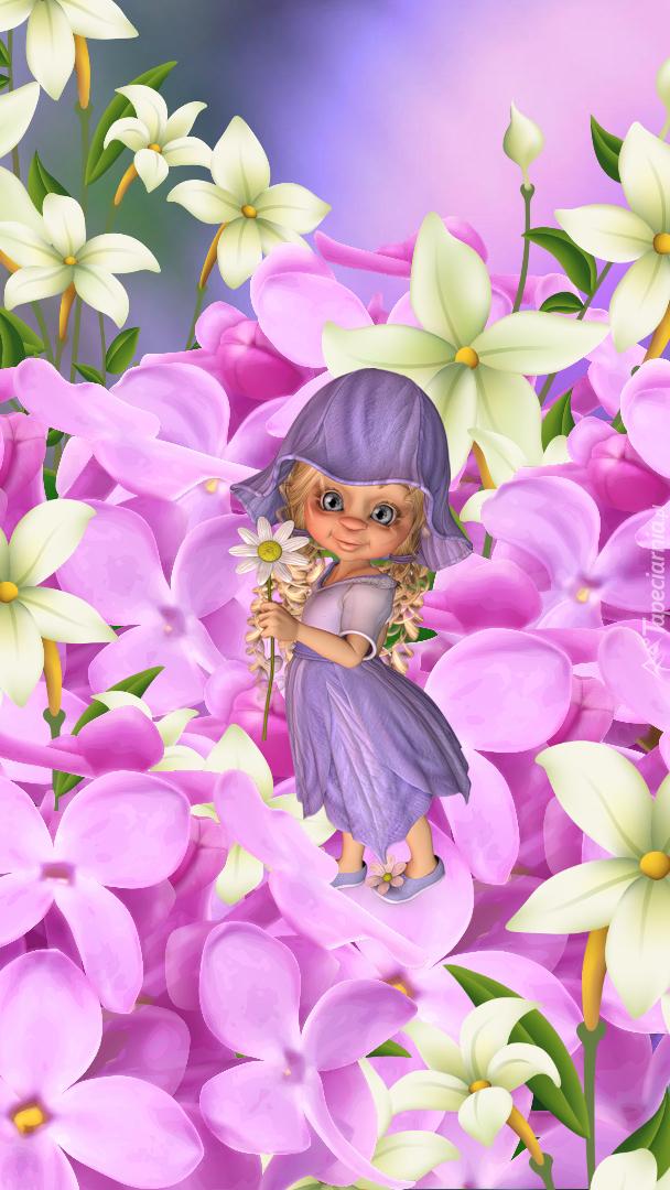 Laleczka w kwiatach