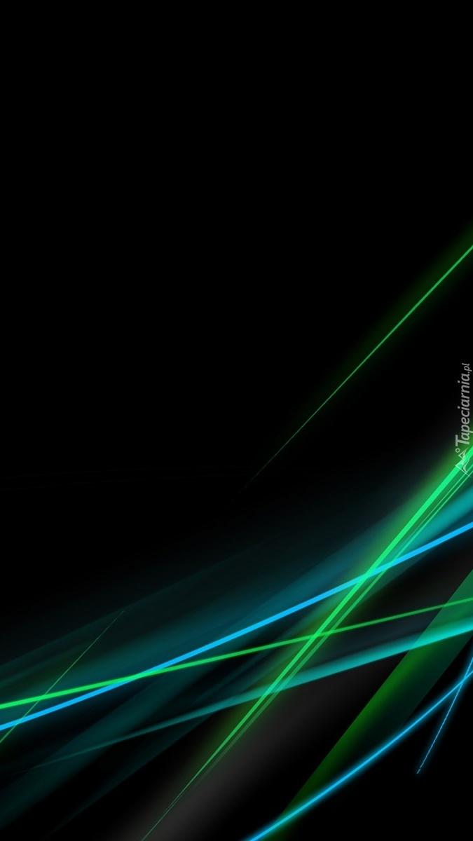 Laserowe smugi na czarnym tle