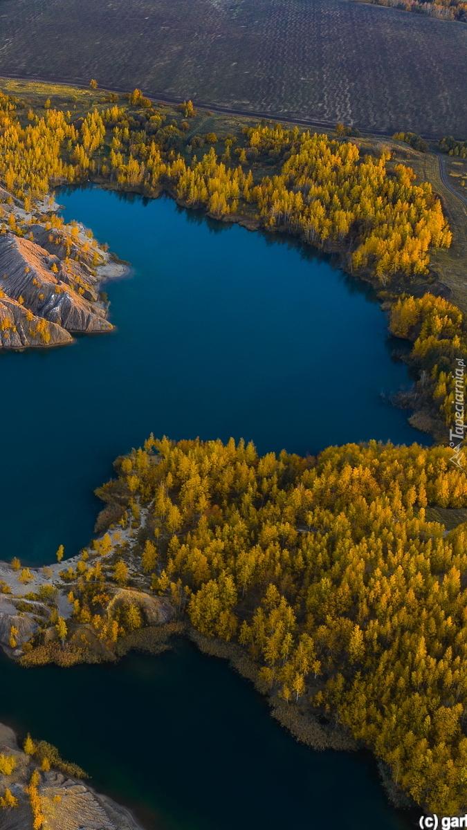Lasy i jeziora z lotu ptaka