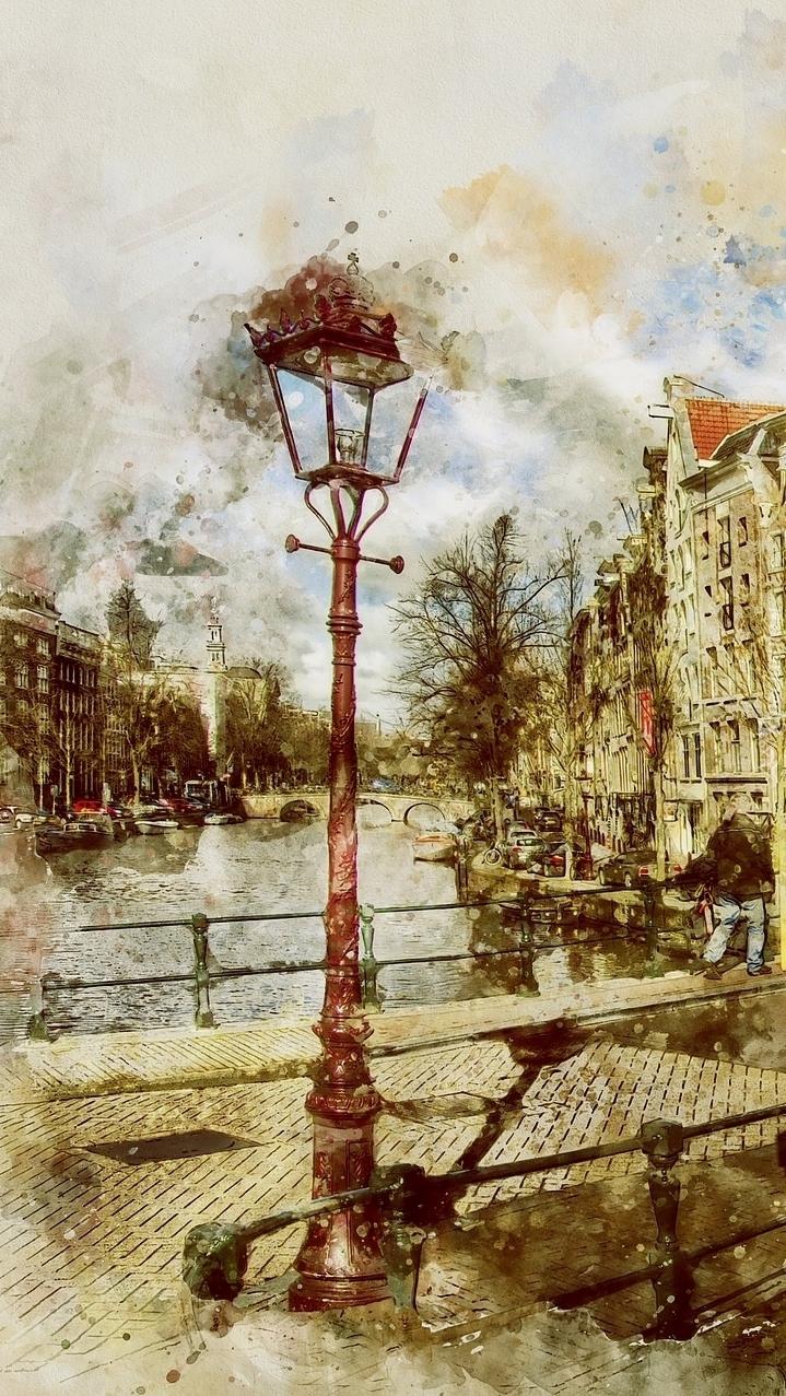 Latarnia w Amsterdamie