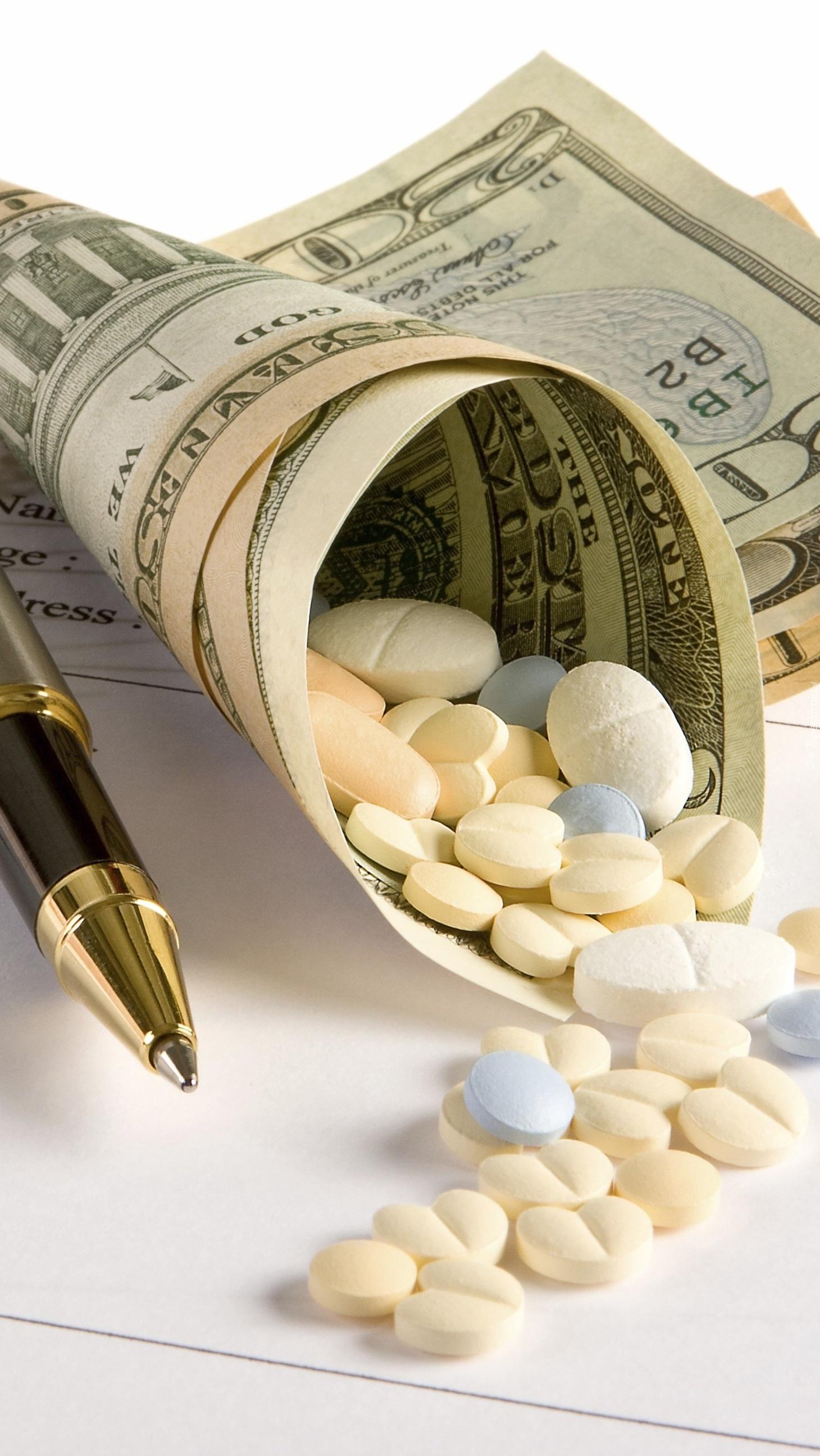 Leki w rulonie dolarów
