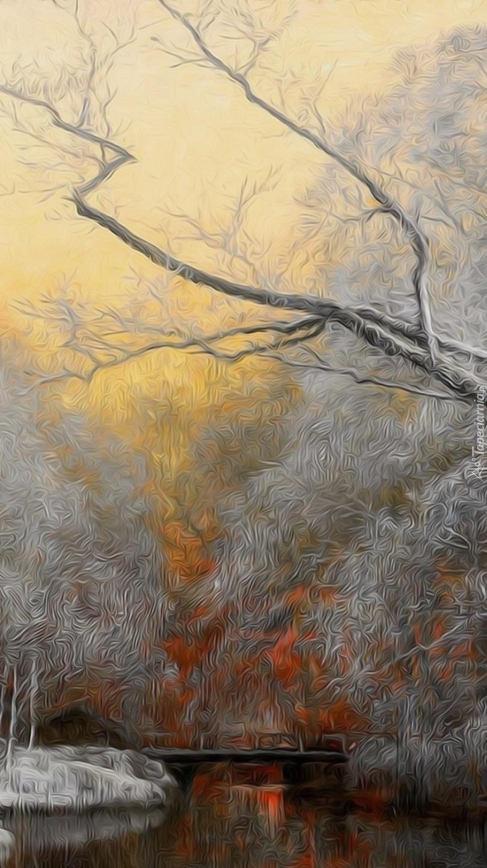 Leśna zima w fractaliusie