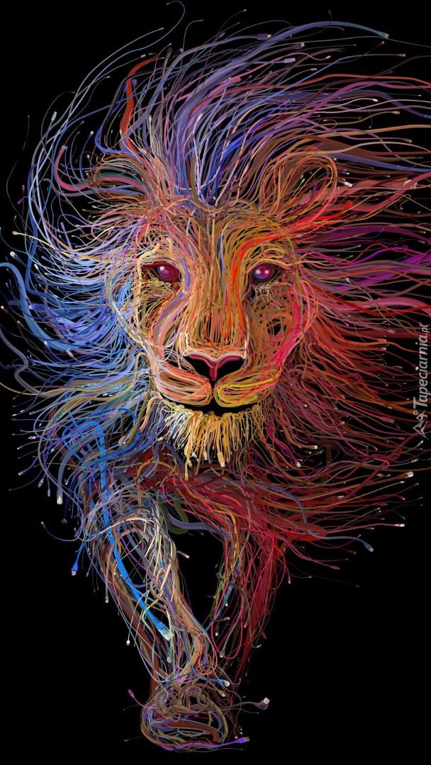 Lew w grafice
