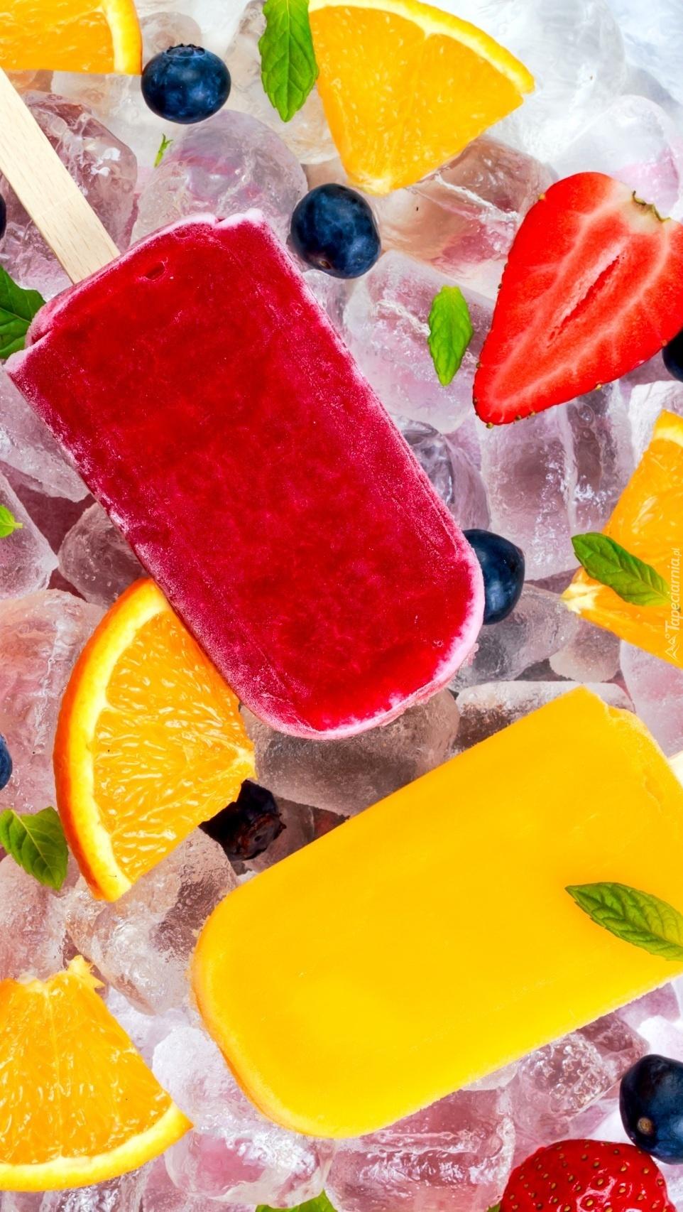 Lody i owoce
