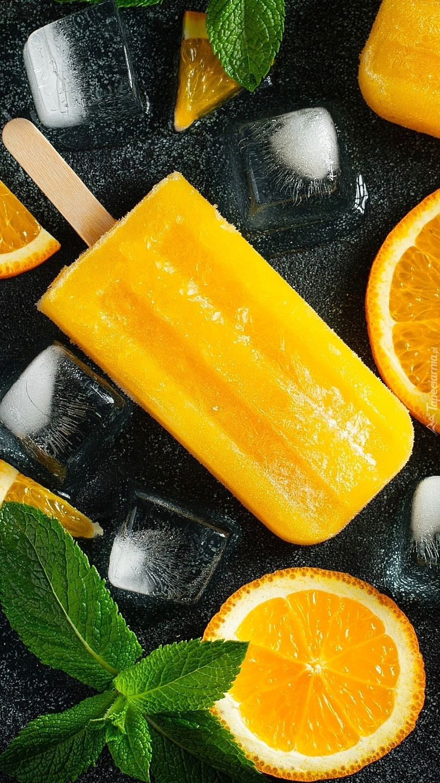 Lody pomarańczowe