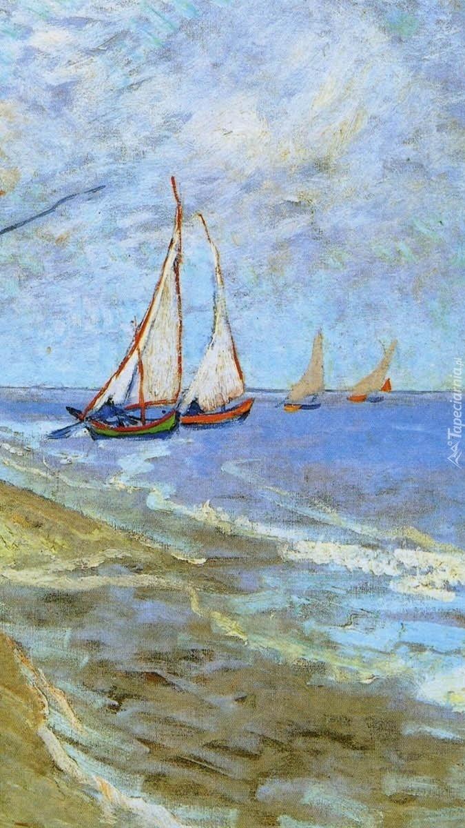 Łodzie rybackie na obrazie Vicenta van Gogha