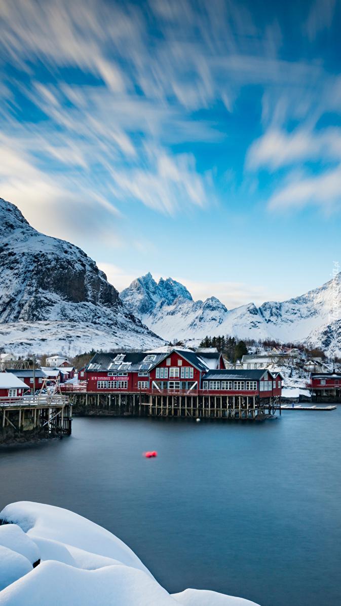 Lofoty w Norwegii zimową porą