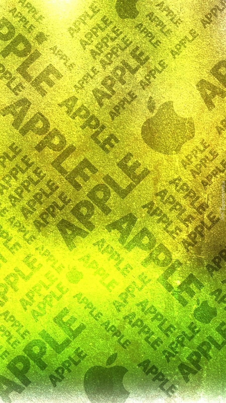 Logo Apple na papierze